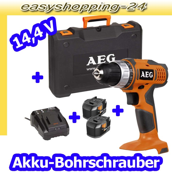 aeg bs 14 g akku bohrschrauber 14 4 v bohrmaschine bohrer akkuschrauber neu ebay. Black Bedroom Furniture Sets. Home Design Ideas