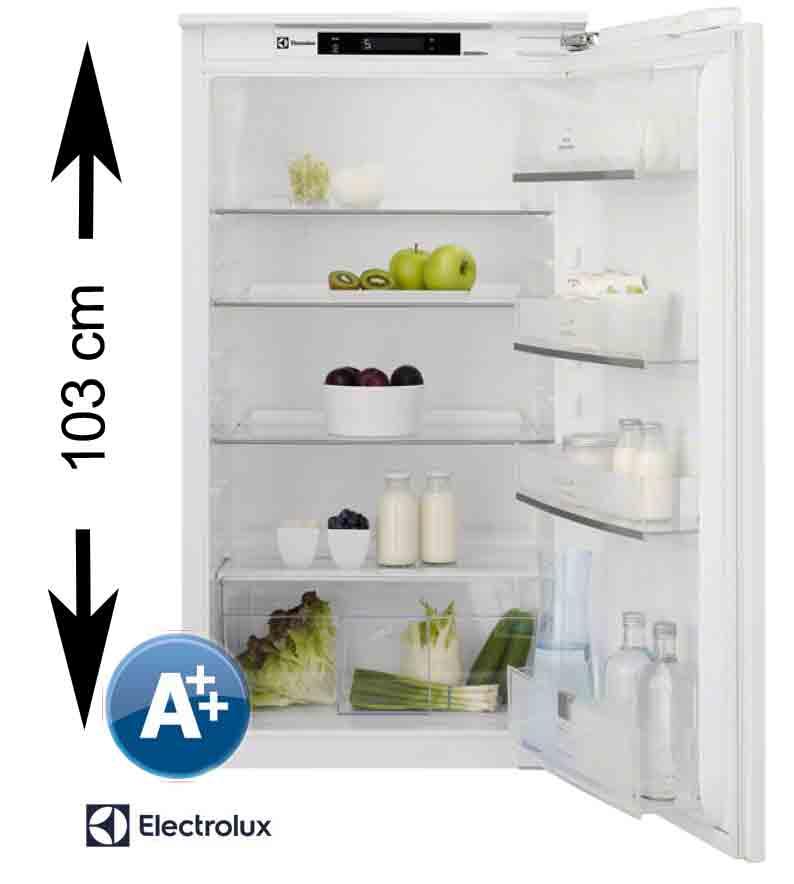 electrolux einbau k hlschrank 103 cm nische a festt r display abtauautomatik ebay. Black Bedroom Furniture Sets. Home Design Ideas