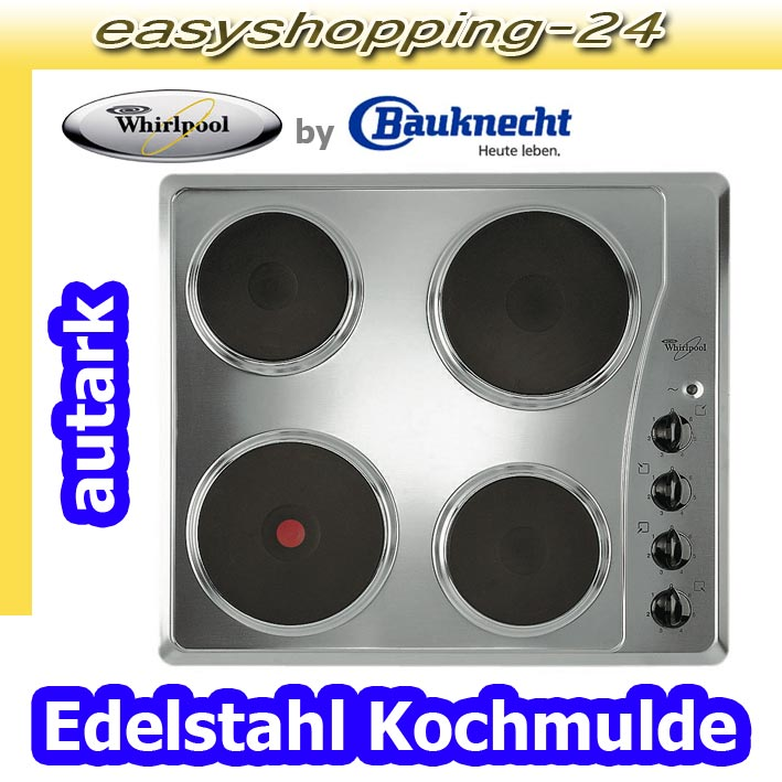 whirlpool elektro einbau kochfeld akm 330 ix autark edelstahl 7 takt bauknecht ebay. Black Bedroom Furniture Sets. Home Design Ideas