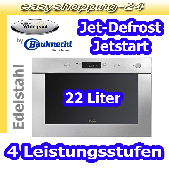 whirlpool amw 496 ix einbau mikrowelle edelstahl 60 cm 3d 750 watt by bauknecht ebay. Black Bedroom Furniture Sets. Home Design Ideas