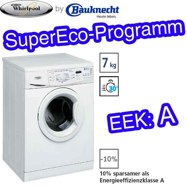whirlpool awo 7346 waschmaschine frontlader 7kg super eco eek a bauknecht ebay. Black Bedroom Furniture Sets. Home Design Ideas