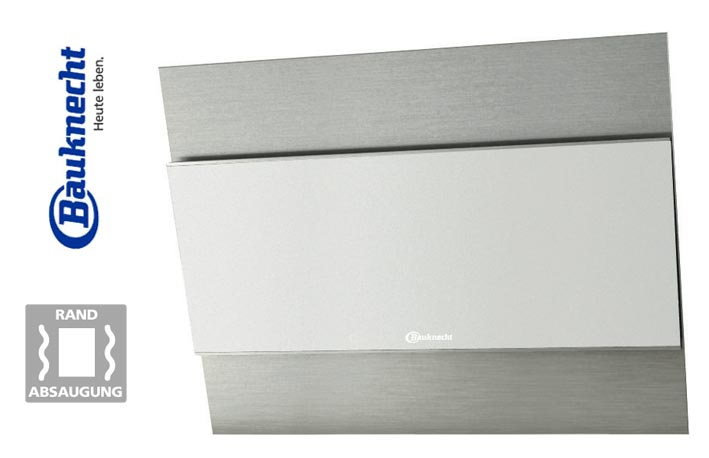 bauknecht design dunstabzugshaube dwgr 9780 ew randabsaugung edelstahl glas 80cm ebay. Black Bedroom Furniture Sets. Home Design Ideas
