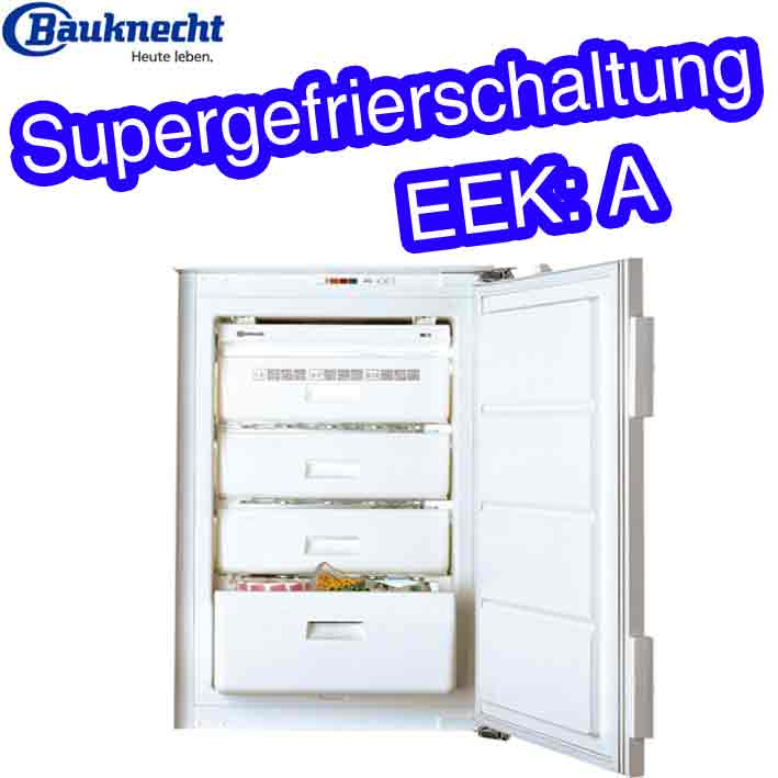 bauknecht gki 9000 a einbau gefrierschrank integrierbar tiefk hlschrank 91 liter ebay. Black Bedroom Furniture Sets. Home Design Ideas