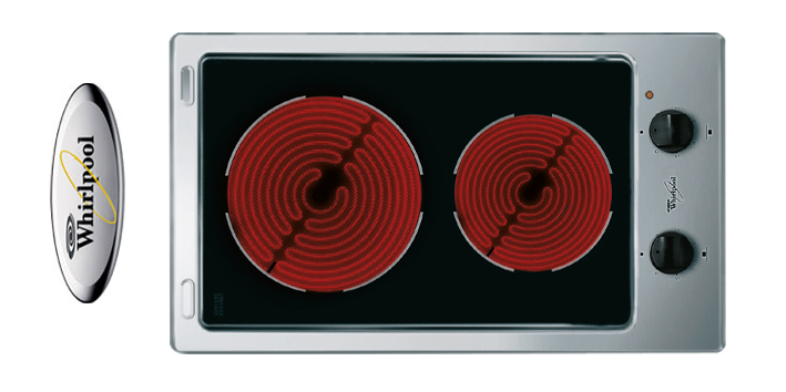 whirlpool by bauknecht einbau glaskeramik duo kochfeld. Black Bedroom Furniture Sets. Home Design Ideas