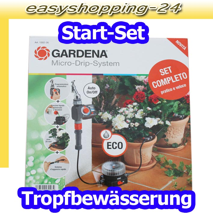 gardena micro drip system 1302 26 start set tropf bew sserung f r topfpflanzen ebay. Black Bedroom Furniture Sets. Home Design Ideas
