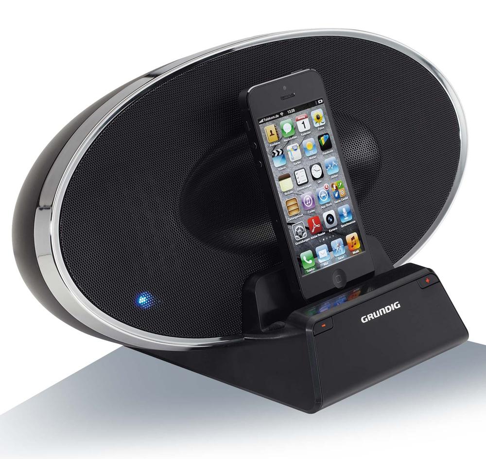 grundig handy dockingstation gsd 320 lautsprecher apple iphone 5 6 ipad 2 w ebay. Black Bedroom Furniture Sets. Home Design Ideas