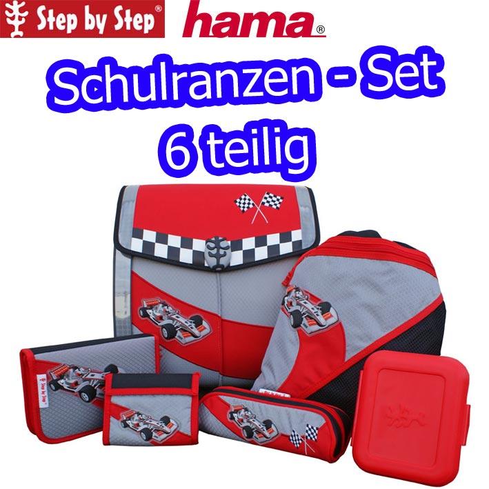 hama step by step schulranzen set racer schul ranzen. Black Bedroom Furniture Sets. Home Design Ideas