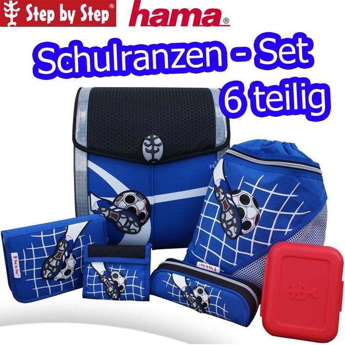 hama step by step schulranzen set soccer ii ranzen. Black Bedroom Furniture Sets. Home Design Ideas