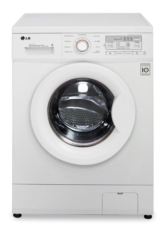 lg 7kg frontlader waschmaschine wei eek a 1400 u min direct drive neu ebay. Black Bedroom Furniture Sets. Home Design Ideas