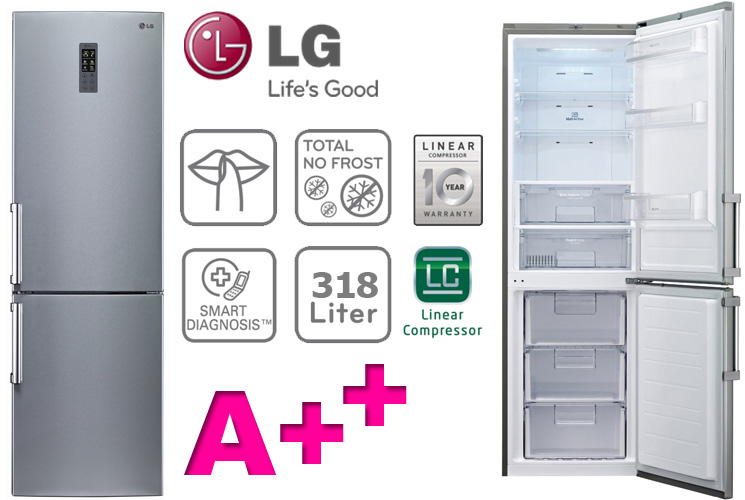 lg a kombi no frost k hl gefrierkombination k hlschrank led licht 190cm neu ebay. Black Bedroom Furniture Sets. Home Design Ideas