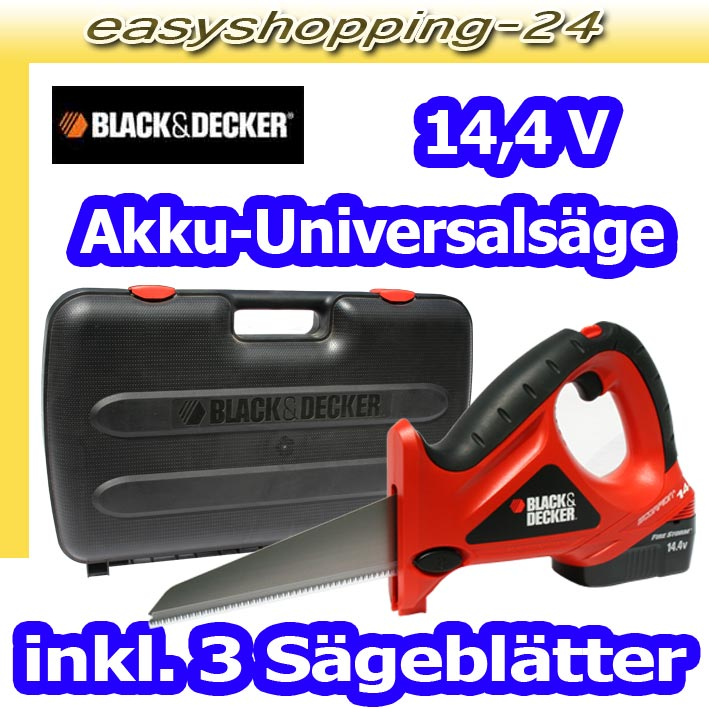 black und decker cs 143 k akku universals ge scorpion hands ge s bels ge 14 4 v ebay. Black Bedroom Furniture Sets. Home Design Ideas